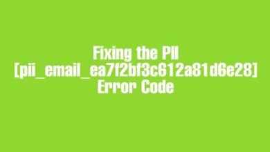 Fixing the PII [pii_email_ea7f2bf3c612a81d6e28] Error Code