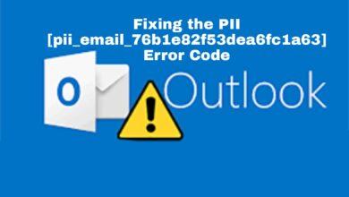 Fixing the PII [pii_email_76b1e82f53dea6fc1a63] Error Code